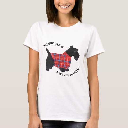 Scottish Terrier Happiness - Red Plaid Sweater