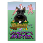 Scottish Terrier Happy Easter Card