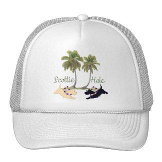 Scottish Terrier Hawaiian Design Trucker Hat