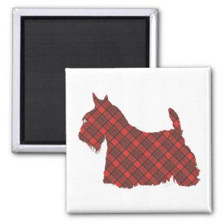 Scottish Terrier Hepburn Tartan 2 Inch Square Magnet