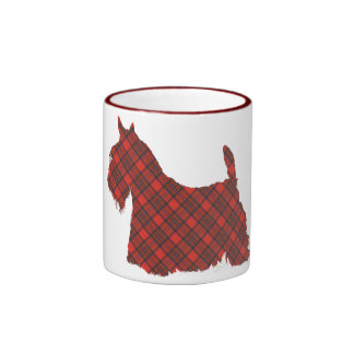 Scottish Terrier Hepburn Tartan Ringer Coffee Mug