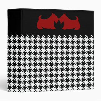 Scottish Terrier Houndstooth Binder