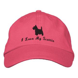 Scottish Terrier  I Love My Scottie Dog Customized Embroidered Baseball Cap