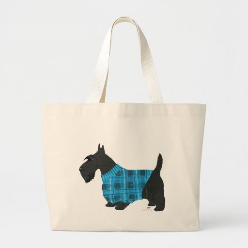 Scottish Terrier in a Sweater Bag