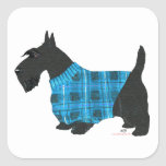 Scottish Terrier in a Sweater Square Sticker