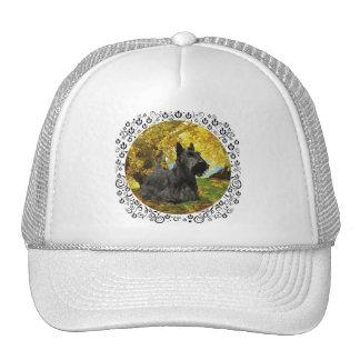 Scottish Terrier in Autumnal Woods Trucker Hat
