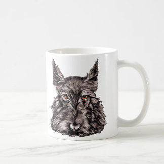 Scottish Terrier in Black Classic White Coffee Mug