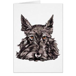Scottish Terrier in Black Greeting Card