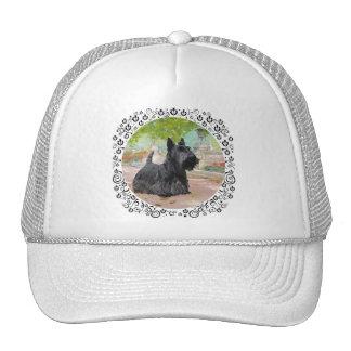 Scottish Terrier in Dappled Sunlight Trucker Hat