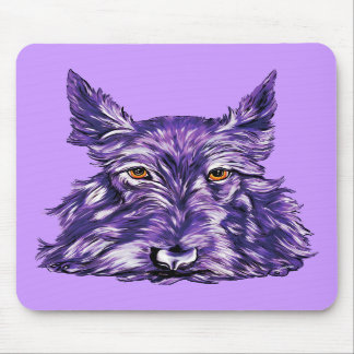 Scottish Terrier in Purple Mouse Pad
