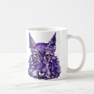 Scottish Terrier in Purple Classic White Coffee Mug