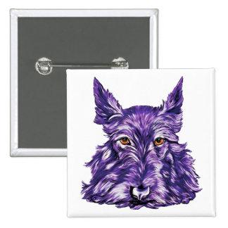 Scottish Terrier in Purple Pinback Button