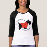 Scottish Terrier in Red Plaid Sweater Shirts