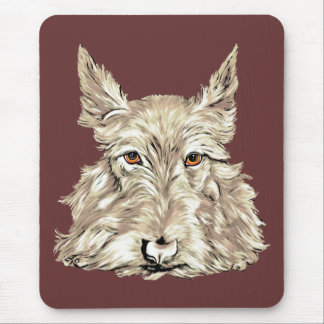 Scottish Terrier in Wheaten Mouse Pad