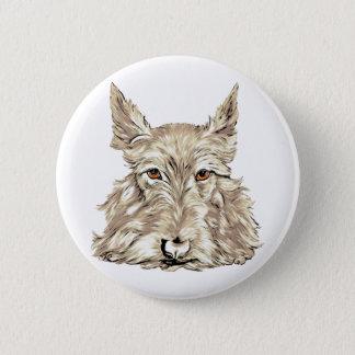 Scottish Terrier in Wheaten Pinback Button
