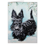 """Scottish Terrier in Winter """"Nora"""" Greeting Card"""