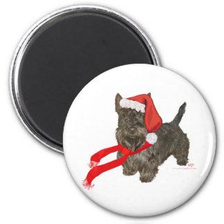 Scottish Terrier is Santa's Helper Magnet