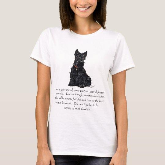 Scottish Terrier Keepsake - FEMALE T-Shirt