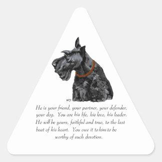 Scottish Terrier Keepsake - MALE Dog Sticker