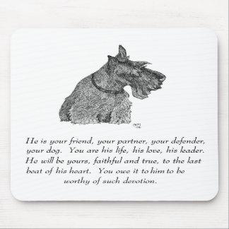 Scottish Terrier Keepsake - MALE Mousepads