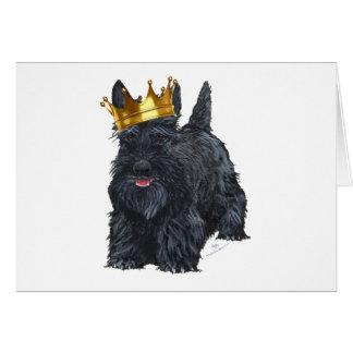 Scottish Terrier King Greeting Card