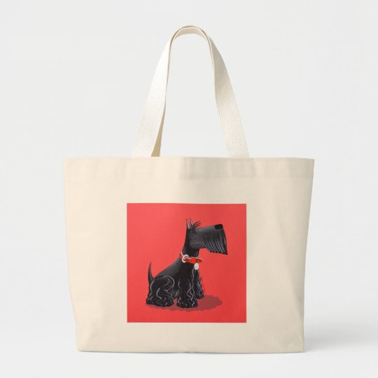 Scottish Terrier Large Tote Bag