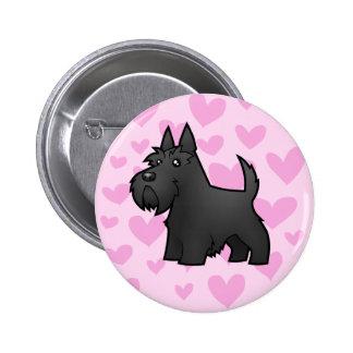 Scottish Terrier Love Button