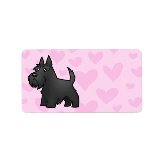 Scottish Terrier Love Label