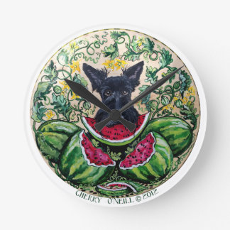Scottish Terrier Melon Clock