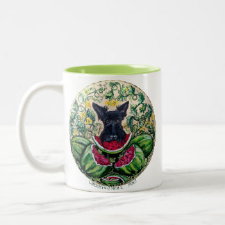 Scottish Terrier Melons Two-Tone Coffee Mug