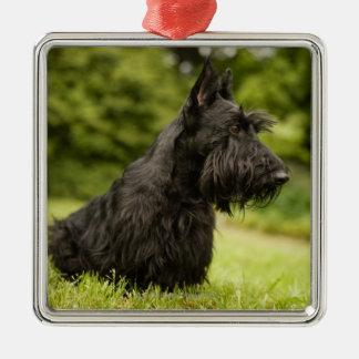 Scottish Terrier Metal Ornament