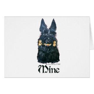 "Scottish Terrier ""Mine!"" Greeting Cards"