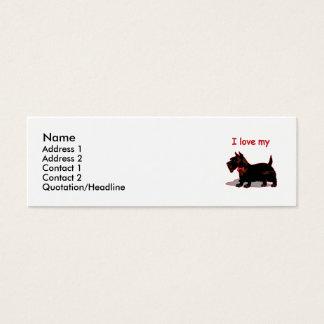 Scottish Terrier Mini Business Card