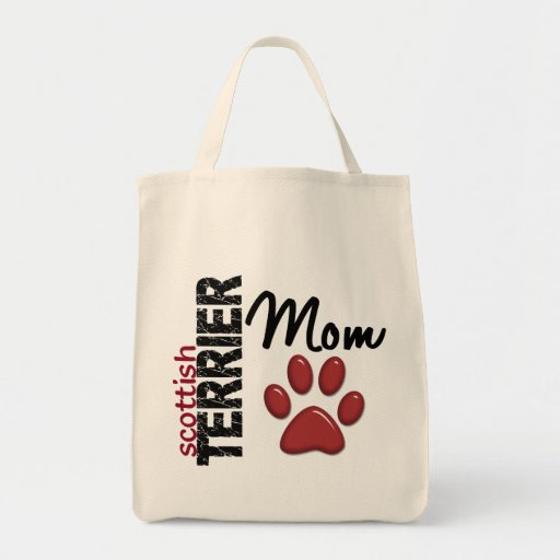 Scottish Terrier Mom 2 Grocery Tote Bag