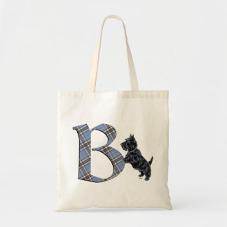 Scottish Terrier Monogram B Bags