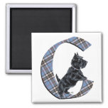 Scottish Terrier Monogram C Fridge Magnet