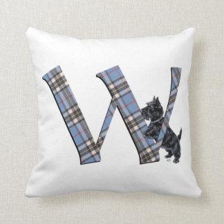 Scottish Terrier Monogram W Pillow