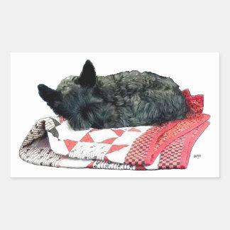 Scottish Terrier Napping Sticker