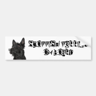 Scottish Terrier on Board Bumper Sticker
