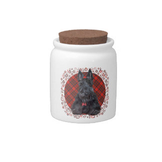 Scottish Terrier on Tartan Candy Jar