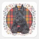 Scottish Terrier on Tartan Sticker