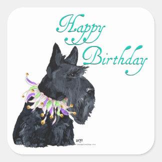 Scottish Terrier Party Animal Square Sticker
