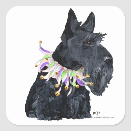 Scottish Terrier Party Animal Square Sticker
