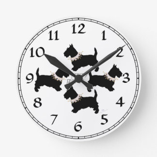 Scottish Terrier Party Clocks