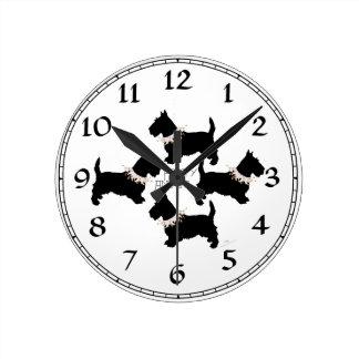Scottish Terrier Party Clocks