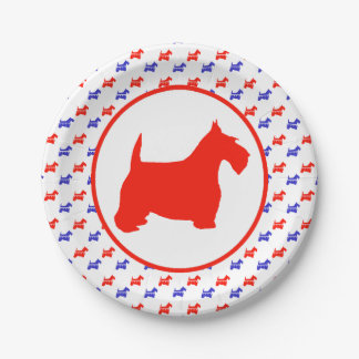 Scottish Terrier Party Paper Plate