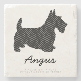 Scottish Terrier Personalized Stone Coaster