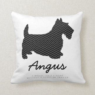 Scottish Terrier Personalized Throw Pillow