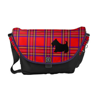Scottish Terrier Plaid Messenger Bag