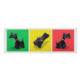 Scottish Terrier Poster (Small - Large)